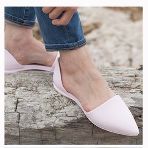 Native Audrey pointy d'Orsay comfort foam flats